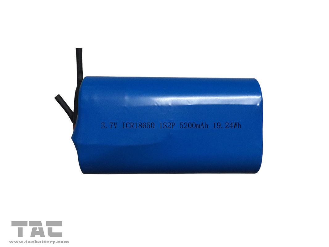 Rechargeable 18650 Lithium Ion Cylindrical Battery Pack 3.7v 5200mah