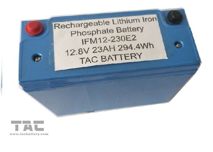 Blue 12V LiFePO4 Battery Pack 26650 23AH With Housing UL2054 For Sloar Lighting