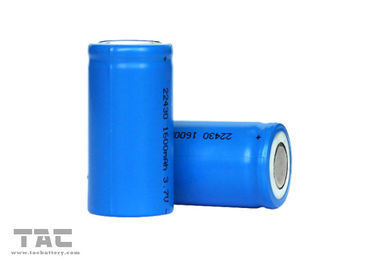 Baterai Lithium Ion Cylindrical 22430 PCB Mount Battery Dengan Tag