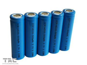 Rechargeable Lithium Ion Cylindrical Battery AA 3.7V 14500 Untuk Solar