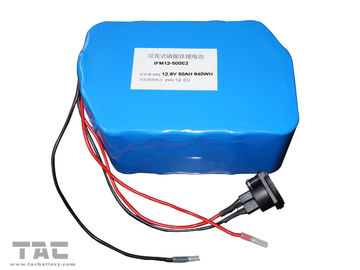 12 V LiFePO4 Battery Pack f'or Street Lamp IFR 26650 50ah Dengan Konektor